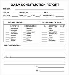daily reports construction templates best photos of daily report template daily production