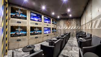 Multiple Rugs In Living Room Gaming Room Industrial Home Theater Calgary By K Amp W
