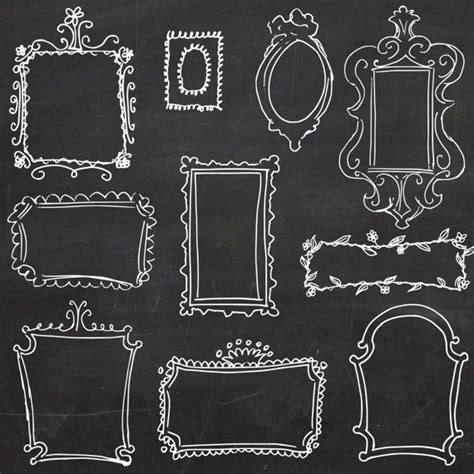 design elements for photoshop clip art vector doodle frames hand drawn frames diy