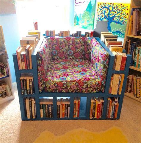 Chair Reading Design Ideas How To Make Diy Bookshelf Chair Diy Crafts Handimania