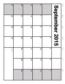 2015 Blank Calendar Template by Printable Landscape Calendar Template Calendar Template 2016