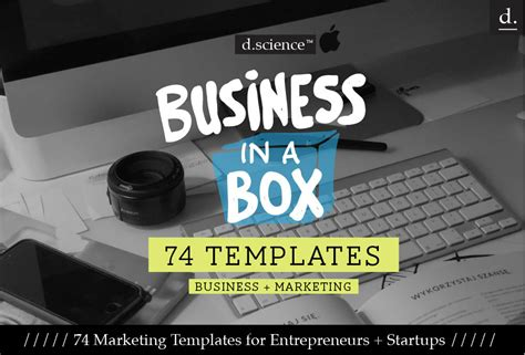 business in a box 74 business marketing templates for