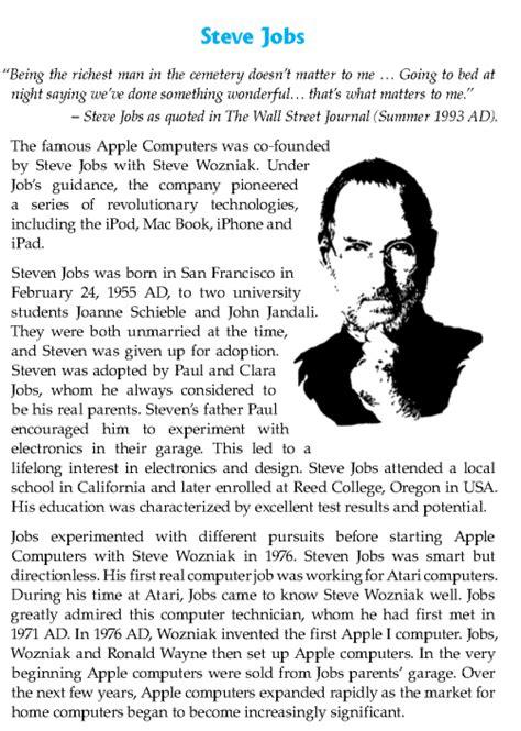 biography of steve jobs summary literature grade 8 biography steve jobs 2 english