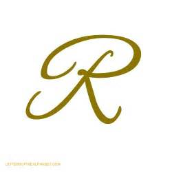 letters of the alphabet in cursive gold