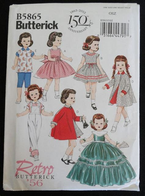 14 best images about vintage doll clothes patterns on
