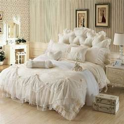 Ruffled Bedding Sets Lace Ruffle Tulle Bowtie Jacquard Bedding Lace Ruffle Bedding