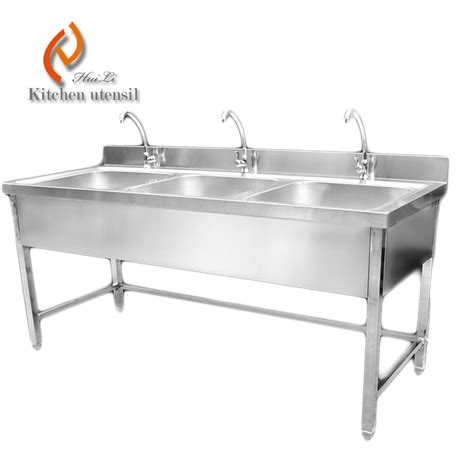 triple stainless steel sinks restaurant sink ideas triple bowls stainless steel kitchen sink cabinet with