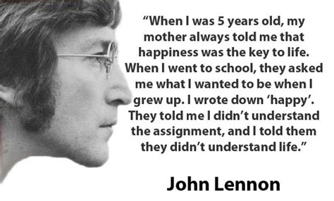 quote by john lennon when i was 5 years old my mother quotes about happiness john lennon quotesgram