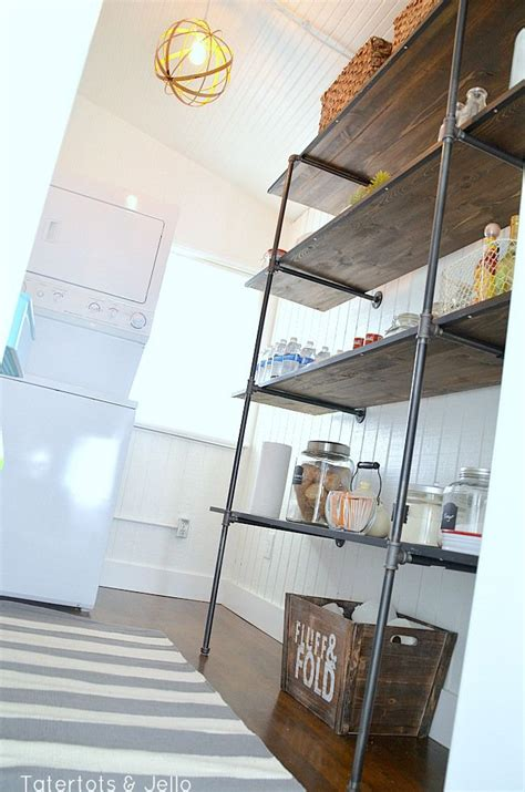 Super Easy Industrial Shelving Diy Lowescreator Industrial Shelves Diy