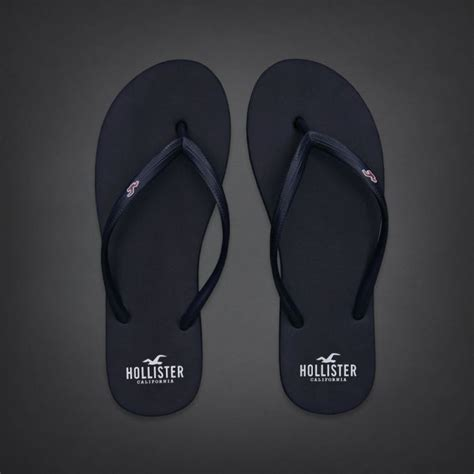 hollister sandals hollister new with tag womens navy blue rubber flip flops