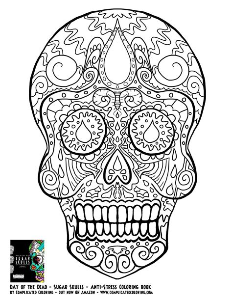 coloring pages for adults skulls day of the dead dia de los muertos sugar skull coloring