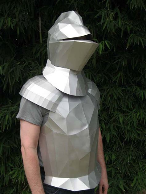 How To Make A Paper Armor - the geometric papercraft disguises you as a