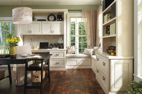 Using Kitchen Cabinets For Home Office by Decora Leyden Office Cabinets Traditional Kitchen