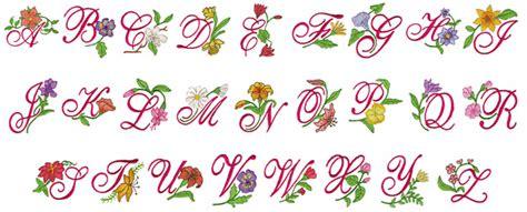 floral pattern font floral alphabet ii embroidery font annthegran