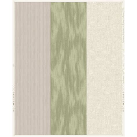 shop graham brown fabric green beige vinyl textured stripes wallpaper at lowes