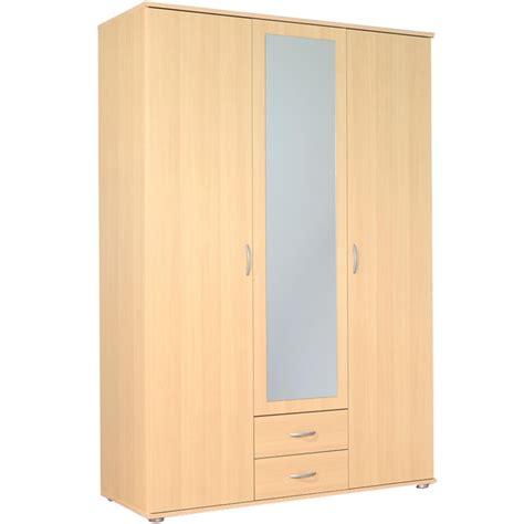 kleiderschrank 3 t 252 rig mit 2 schubk 228 sten und spiegel - Kleiderschrank Mit Spiegel Und Schiebetüren