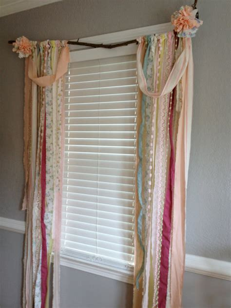 cottage curtains window treatments shabby chic rustic rag curtain window treatment panels