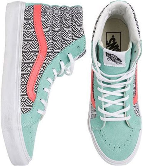 geometric pattern vans womens vans sk8 hi slim geometric shoe sneakers