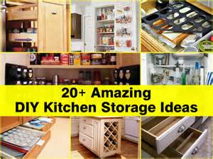 homemade kitchen ideas 20 amazing diy kitchen storage ideas