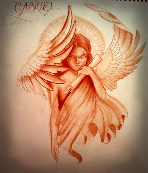 angel gabriel tattoo archangel gabriel symbol www imgkid the
