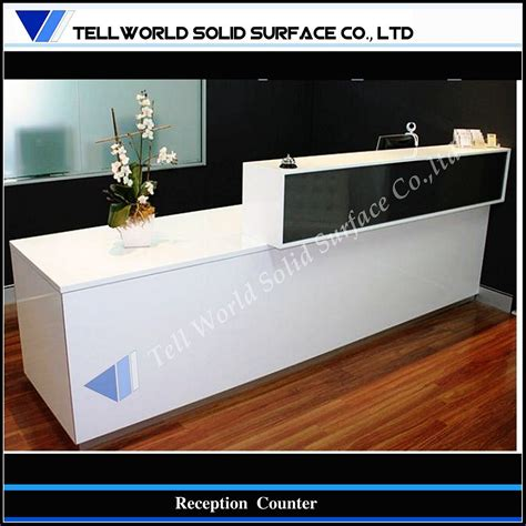 counter design china modern office furniture acrylic solid surface cash