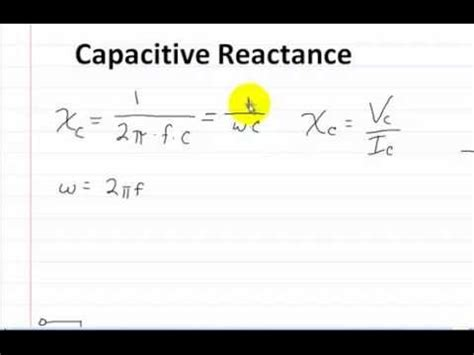 capacitive reactance pdf capacitor reactance 28 images capacitive reactance electronics tutorial capacitance and