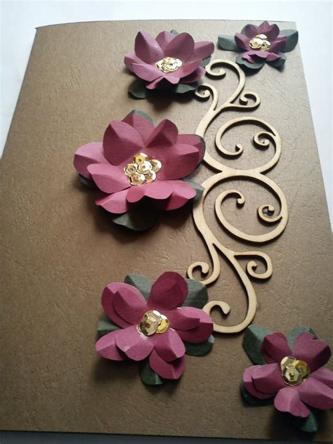 fadzillah 3d flower greeting card