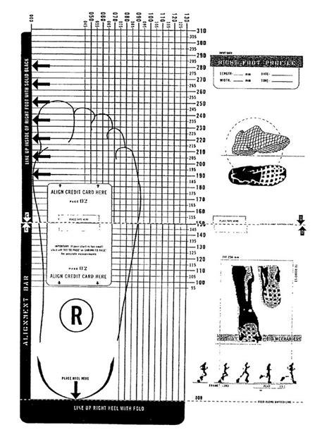 printable shoe size chart 16 best images about shoe size charts on pinterest shoe