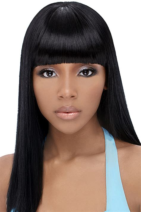 the perfect style for black girl straight hair simple black hairstyles with bangs beautiful hairstyles
