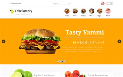 bootstrap templates for restaurant cakefactory bootstrap restaurant theme wrapbootstrap