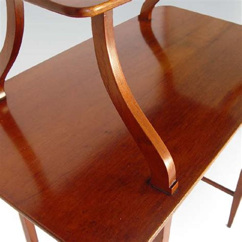 vintage two tier entrance table desk mahogany ebay