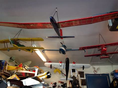 flying ceiling plane r c airplane storage hangers to organize your fleet and