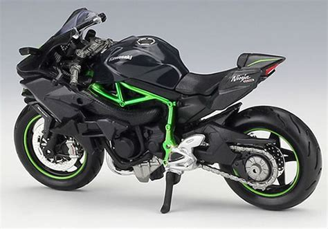 black 1 18 scale maisto diecast kawasaki h2 r model
