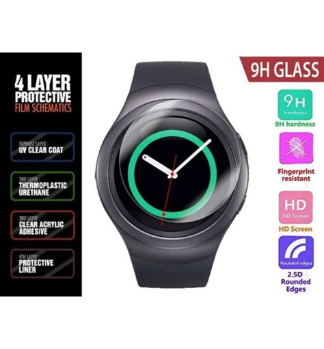 Tempered Glass Gear Sport New buy samsung gear s2 tempered glass protector at store nz geekstore co nz