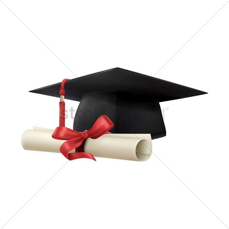 Graduation cap and scroll Vector Image - 1975950 ... Diploma Scroll Vector