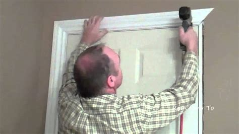 How To Replace Door Trim by How To Install Door Casing