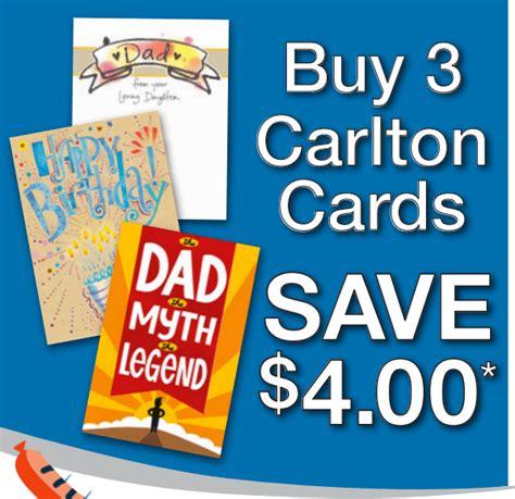 carlton cards carlton cards canada coupons save 4 00 when you buy 3