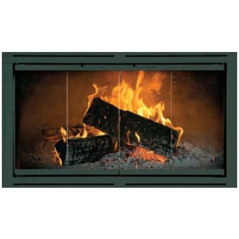 heatilator fireplace doors heatilator bi fold trackless solid steel doors brick anew