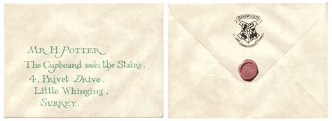 Harry Potter Acceptance Letter Envelope Memorabilia Specialists The Company Harry Potter Hogwarts Invitation Letter