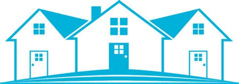 blue house real estate blue house logo stock illustration image of blue visual