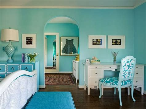 aqua blue bedroom turquoise interior design inspiration rooms