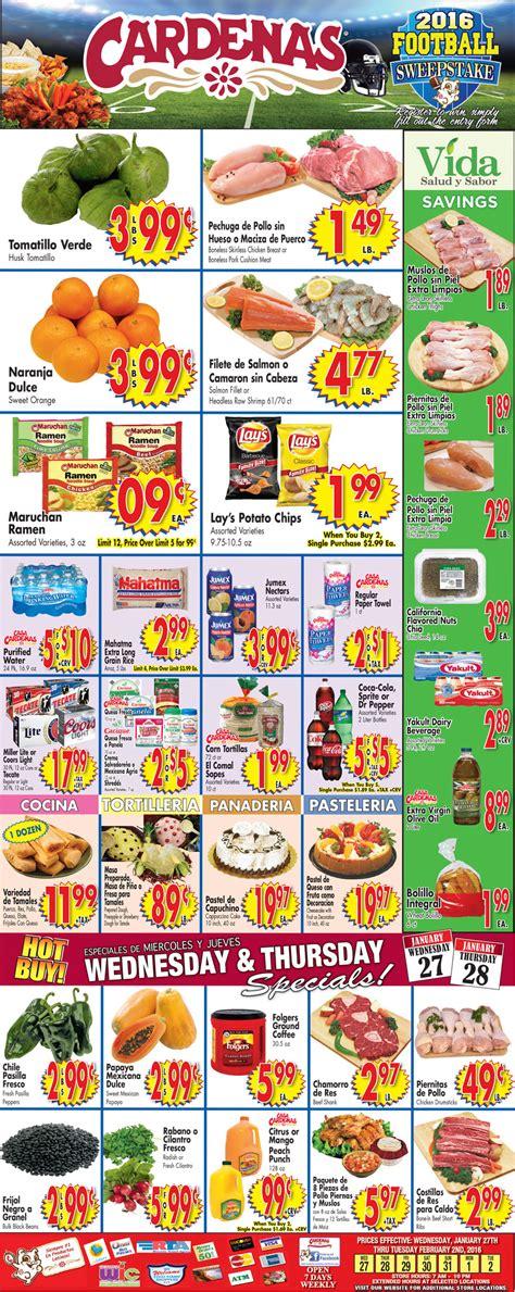 cardenas supermarket ad cardenas weekly special 27 1 2016 weekly ads