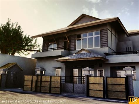 virtual outside home design asian style architecture japanese style exterior