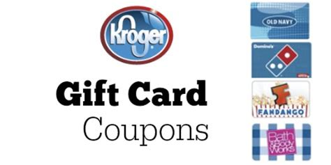 Kroger Gift Card Deals - kroger coupons 5 off various gift cards southern savers