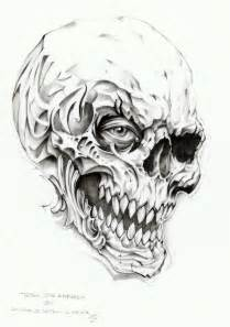skull tattoo drawing by linkerart on deviantart