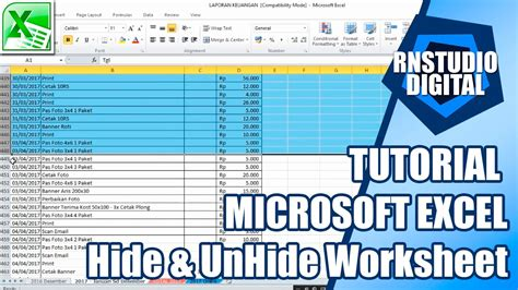 tutorial excel 2013 bahasa indonesia tutorial hide unhide worksheet microsoft excel bahasa