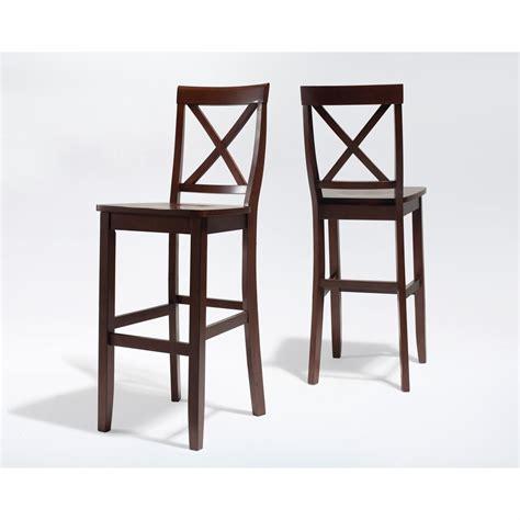 crosley furniture   bar stool  mahogany finish