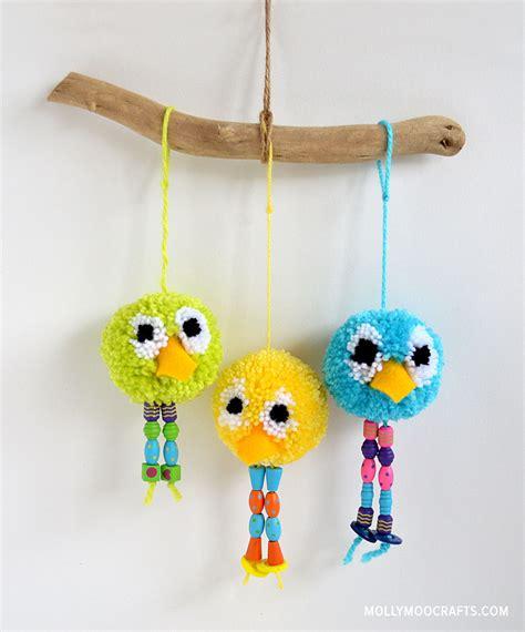 Home Decor Bird Cage by Mollymoocrafts How To Make Pom Pom Bird Craft