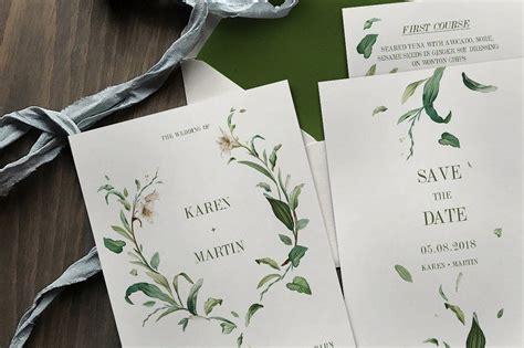 Wedding Invitations Green by 90 Gorgeous Wedding Invitation Templates Design Shack