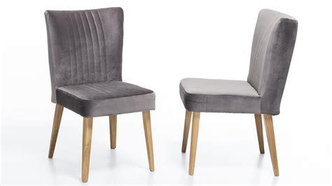 stuhl jan stuhl jan polsterstuhl in stoff grau und eiche natur